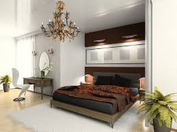 elegant bedroom with recessed black and wood bed on light wood floor and white walls bedroom ideas light wood