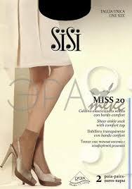 Женские капроновые <b>носки</b> Sisi <b>calz</b>. <b>Miss</b> 20 Den 2 пары ...