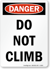 Image result for dangerous playground equipment signs