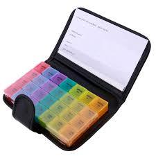 Portable <b>28 Grids</b> Pills <b>Box</b> Holder Tablet Pill Case Medicine ...