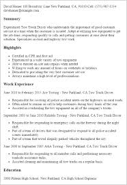 professional tow truck driver templates to showcase your talent    resume templates  tow truck driver