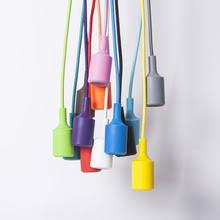 e27 pendant lamp hloder 1 meter cable vintage edison bulbs colorful lamp holder pendant lighting diy light socket cable pendant lighting