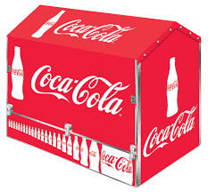 coke space station outdoor product merchandiser storage pop display coke space station door closed