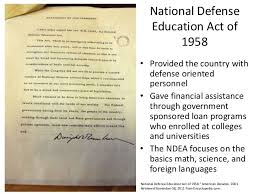 「Eisenhower administration passed the National Defense Education Act」の画像検索結果