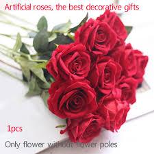65 см Дешевые Искусственные <b>цветы розы</b> бархат для свадьбы ...