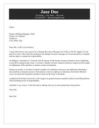 manager cover letter hr manager cover letter