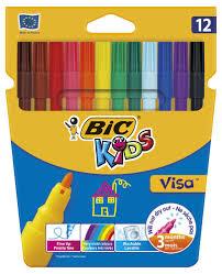 Купить <b>Фломастеры Bic</b> Kids Visa, 12 цветов с доставкой по цене ...