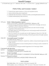 resume  public policy and economic analystexample resume public policy economic analyst