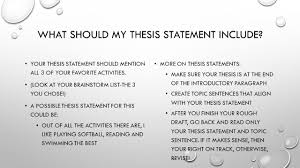 a thesis for an essay should receive a thesis for an essay should what should my thesis statement include your thesis statement informative get an essay