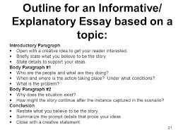 informativeexplanatory prompt  essay based on a quote task   outline for an informative explanatory essay based on a topic introductory paragraph