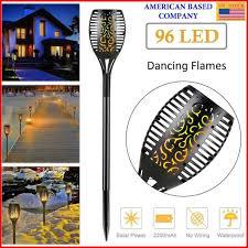 2Pack 96 LED <b>Solar</b> Power Path Torch <b>Light</b> Dancing <b>Flame</b> ...