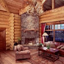 Rustic Cabin Bedroom Decorating Log Cabin Living Rooms Living Room Design Ideas