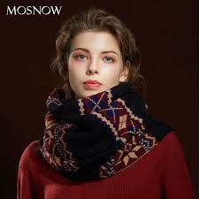 Winter <b>Women Scarf</b> 2019 <b>New Bohemian</b> Style Wool Knit Thick ...