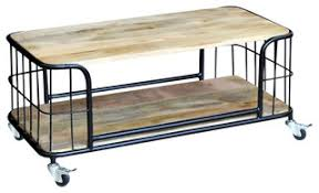 vidaXL Solid Mango Wood <b>Coffee Table</b>, <b>100x50x35 cm</b> - Industrial ...