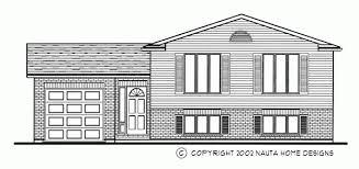 Raised Bungalow House Plans   Nauta Home Designs   Ontario Canada    Raised Bungalo house plan RB front elevation