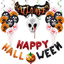 <b>Halloween</b> Balloons Set <b>Spoof</b> Skull Party Decoration Aluminium ...