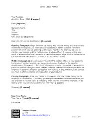 25 Cover Letter Template for: Format Cover Letter. hutepa.us templates.