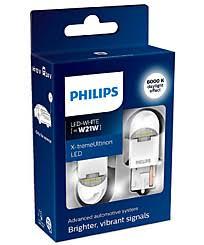 Светодиодные LED <b>лампы W21W</b> / WY21W Philips и <b>Osram</b>