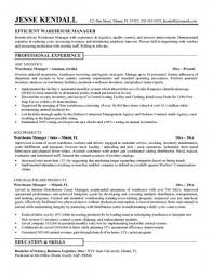 efficient warehouse manager resume professional experience 7 resume objective for warehouse worker sample resumes sample