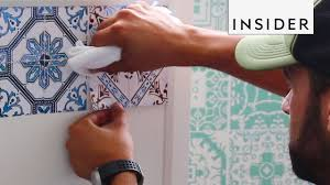 Tile <b>Stickers</b> Make Decorating Easy - YouTube