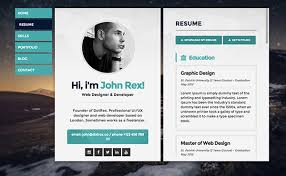 cv resume website template  tomorrowworld cocv resume website