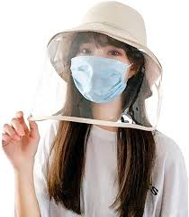 Women's Anti-Spitting Saliva Protective Hat Bucket <b>Removable Face</b> ...
