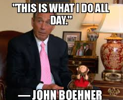 John boehner drinking, orange, political memes | Seen and Overheard via Relatably.com
