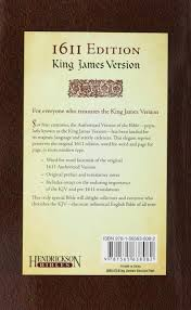 holy bible king james version edition hendrickson holy bible king james version 1611 edition hendrickson publishers 9781565638082 com books