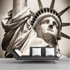 liberty bedroom wall mural: custom photo wall mural wallpaper d luxury quality hd gray statue of liberty beckons america