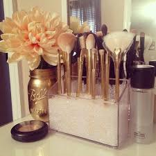 images makeup vanity decor pinterest make up brush organization  make up brush organization