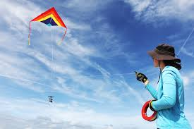 a day in the field endeavors elsemarie devries flies a kite out on the beach a camera attached to conduct an