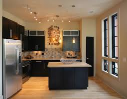 ceiling track lighting small kitchens small kitchen lighting kitchen transitional with small kitchen island