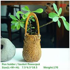 ed original quality design pastoral resin artificial bamboo basket flowerpotpen holder home garden decor bamboo design furniture