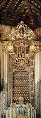 stock photo interior of the pantages theatre ornamental art deco design on art deco office tower piet
