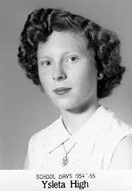 1954 - Carole Wallace 9th Grade - Ysleta High - El Paso, TX. Carole and Morris Daves, 1956 El Monte High School Marching Band - 1954_carole_wallace_9th_grade_ysleta_high_el_paso_tx