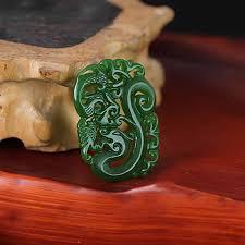<b>KYSZDL natural</b> Hotan green <b>stone</b> Hollow The wind Dragon ...
