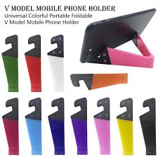 Universal Colorful <b>Portable Foldable</b> V Model <b>Mobile Phone Holder</b> ...