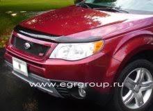 <b>Дефлектор капота</b> Subaru Forester 2008-2012 <b>темный</b>, <b>EGR</b> ...
