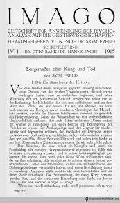 sigmund freud on war and death books health and history sigmund freud zeitgemäßes über krieg und tod imago zeitschrift für anwendung