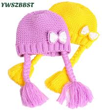 Crochet <b>Fashion Bowknot Baby Hats</b> for Girls Spring Autumn Winter ...