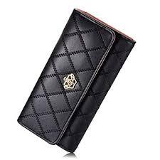DWE PU Leather <b>Wallet</b> Crown Wonem Ladies Girls <b>Purse</b>,<b>Long</b> ...