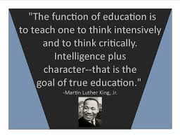 Image result for mlk quote on education