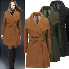 <b>2018 Hot Sale Solid</b> Long Wool Coat Womens High Quality Winter ...