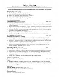 maintenance resume cover letter