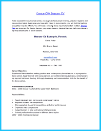the best and impressive dance resume examples collections how to dance resume for child