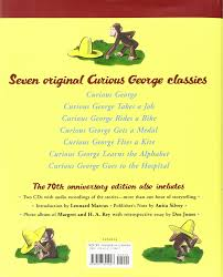 the complete adventures of curious george th anniversary the complete adventures of curious george 70th anniversary edition h a rey 9780547391007 com books