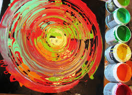 abstract art painting acrylic circle techniques hot colors youtube home decorating ideas home office burnt red home office