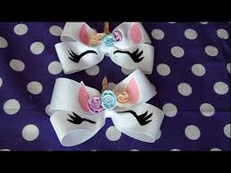 DIY: <b>Unicorn Hairbow</b> Tutorial! - YouTube