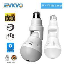 Generic <b>1080P Bulb</b> IP <b>Camera</b> CCTV 360 Degree VR WiFi ...