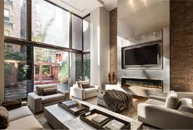 exposed brick living room cream leather sofa which has set back arms elegant furniture sets gray brick living room furniture